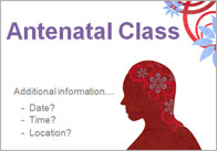 Editable Antenatal Class Poster