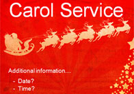 Editable Carol Service Poster