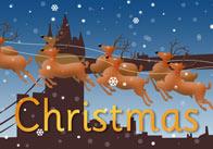 Christmas Poster (London Skyline)