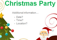 Christmas Party Editable Poster 4