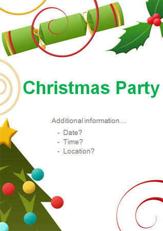 Christmas Party Editable Poster 5 Free Early Years