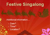 Editable Festive Singalong Poster