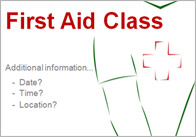 Editable First Aid Poster