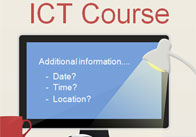 ICT Course Editable Poster