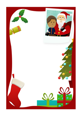 letter to santa christmas notepaper free early years primary