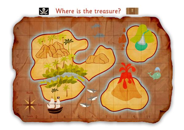 Pirate Treasure Map Poster – Map World Ks1