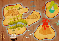 Pirate Treasure Map Poster