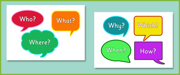 Speech Bubble Question Words Free Early Years Primary Teaching