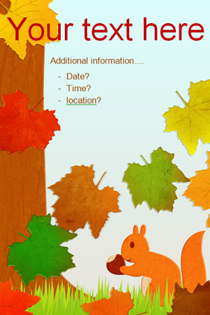 Editable Autumnal Poster Free Early Years Amp Primary