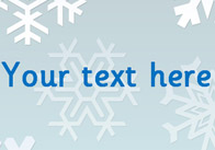 Snowflakes – Editable Text