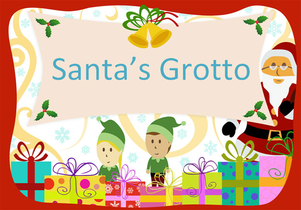 editable santa u0026 39 s grotto poster