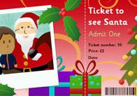 Editable Ticket To See Santa