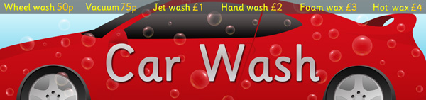 Early Learning Resources    Car       Wash    RolePlay Poster