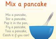 Mix a Pancake Poster