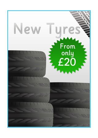 Early Learning Resources Garage Role Play Poster Tyres