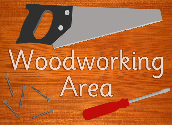Classroom Design Printable ~ Woodworking area sign free early years primary