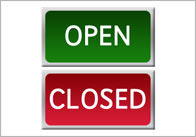 open closed thumb Open and Closed Role Play Signs
