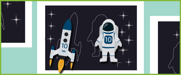 space themed counting cards