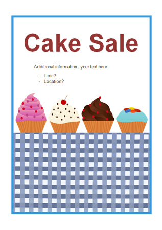 Editable Cake Sale Poster Free Early Years Amp Primary