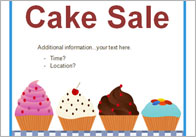 Cake sale thumb Editable Cake Sale Poster