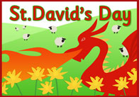 St. David's Day A4 Poster
