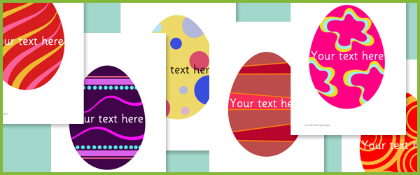 Editable Easter Egg Pictures Free Early Years amp Primary