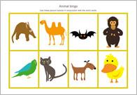 Animal Themed Bingo