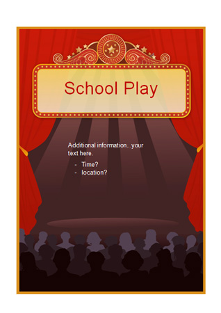 Editable School Play Poster Free Early Years Amp Primary