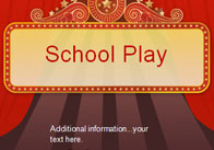 Editable School Play Poster