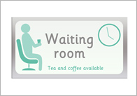 Waiting Room Role Play Sign