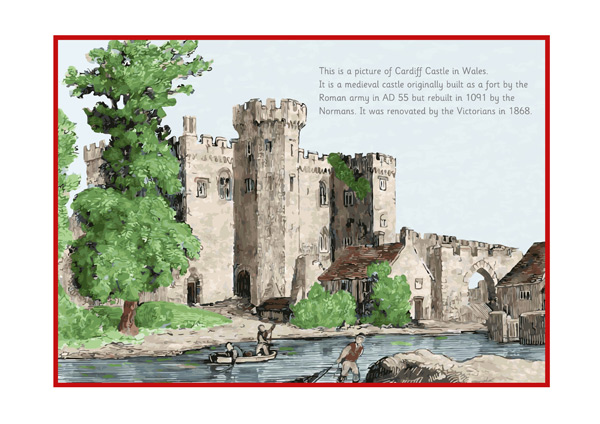 All Worksheets story setting worksheets : Cardiff Castle Poster : Free Early Years u0026 Primary ...