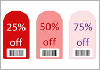 Editable Sale Tags