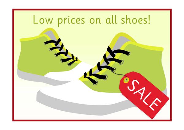 Shoe shop sale poster
