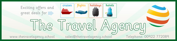 Role play travel agency poster free early years for Free travel posters for teachers