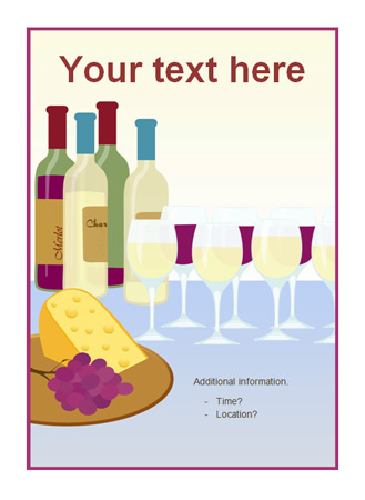 Editable party poster