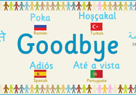 Multilingual 'Goodbye' Banner