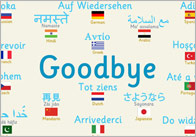 Goodbye thumb Multilingual Goodbye Poster