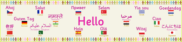 Multilingual Hello Banner Free Early Years Amp Primary
