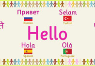 Multilingual 'Hello' Banner