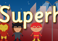 Superhero Display Banner