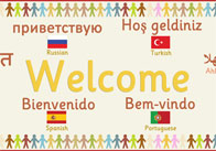 Multilingual 'Welcome' Banner