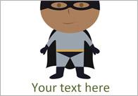 Editable Superheroes