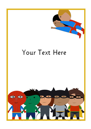 Superhero Themed Notepaper Free Early Years Amp Primary Teaching