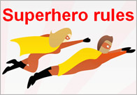 superhero rules thumb Editable Superhero Rules Poster