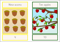 Autumn Numberline (editable)