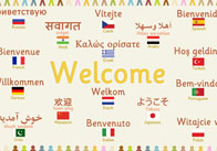 Multilingual 'Welcome' Poster