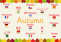Multilingual Autumn Poster