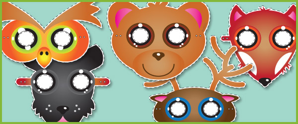 Wild animal masks