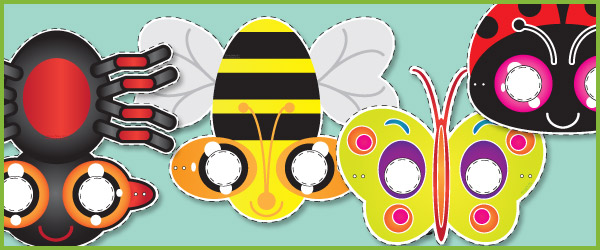 Minibeast Role Play Masks Free Early Years amp Primary Teaching