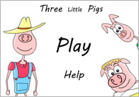 3pigs game thumb 3 Little Pigs Interactive Story